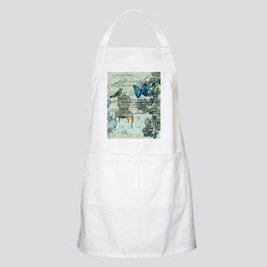 vintage jubilee butterfly floral botanical a Apron