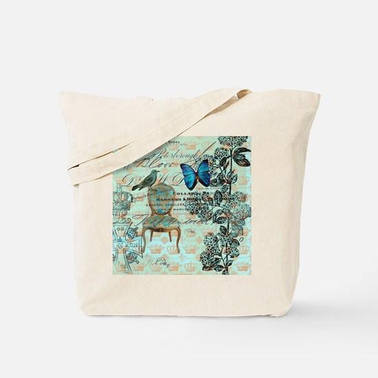 vintage jubilee butterfly floral botanica Tote Bag