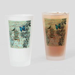 vintage jubilee butterfly floral bo Drinking Glass