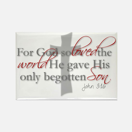 John 3:16 Rectangle Magnet