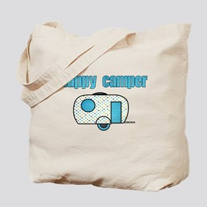 Happy Camper (Blue) Tote Bag