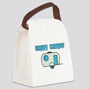 Happy Camper (Blue) Canvas Lunch Bag