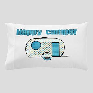 Happy Camper (Blue) Pillow Case