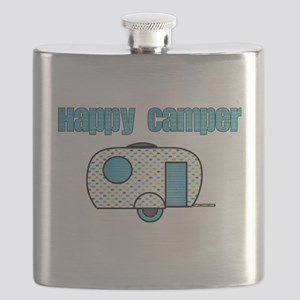 Happy Camper (Blue) Flask