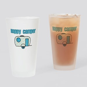 Happy Camper (Blue) Drinking Glass