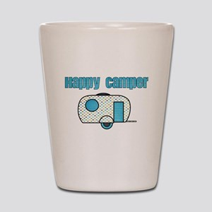 Happy Camper (Blue) Shot Glass