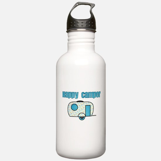 Happy Camper (Blue) Water Bottle