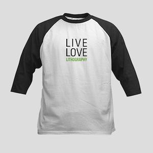 Live Love Lithography Kids Baseball Jersey