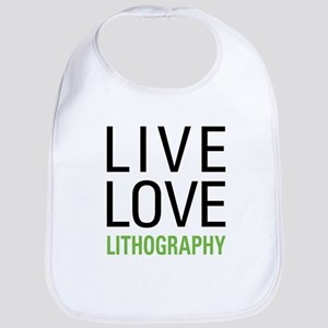Live Love Lithography Bib