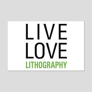 Live Love Lithography Mini Poster Print