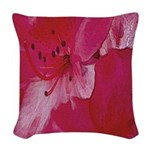 Floral Blush Woven Throw Pillow