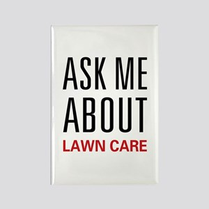 Ask Me Lawn Care Rectangle Magnet