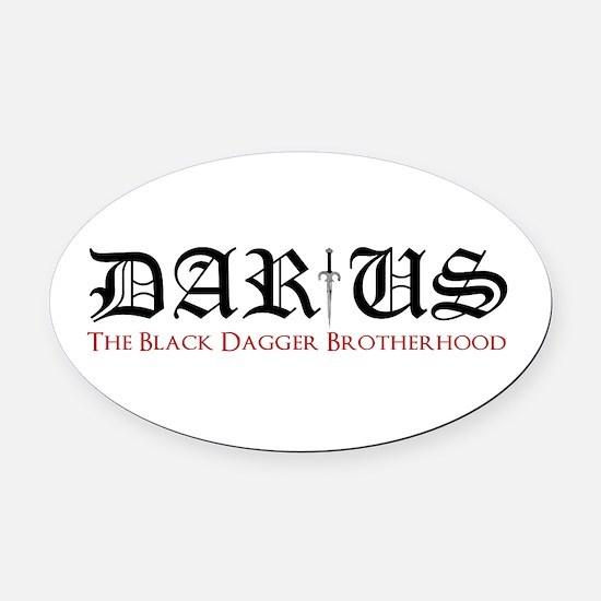 Darius Oval Car Magnet