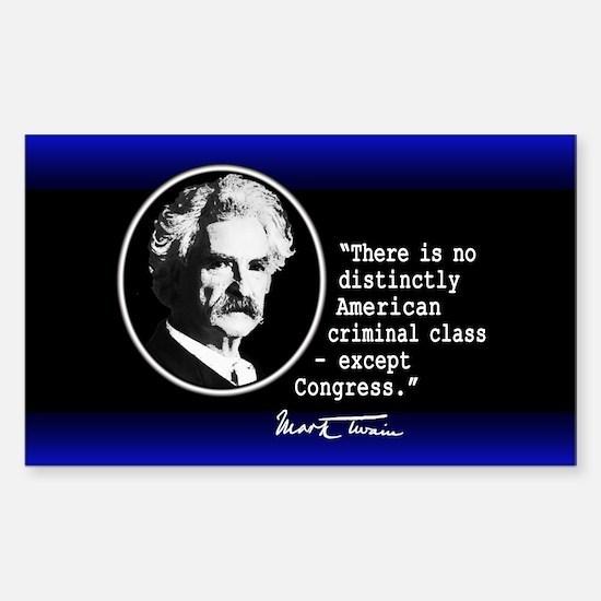 Mark Twain... Sticker (Rectangle)