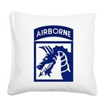 18th Airborne Square Canvas Pillow