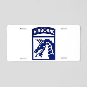 18th Airborne Aluminum License Plate