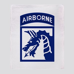 18th Airborne Throw Blanket