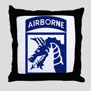 18th Airborne Throw Pillow