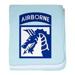 18th Airborne baby blanket