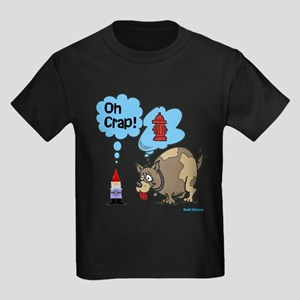 Gnome Visited by the Dog Kids Dark T-Shirt