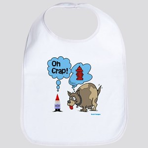 Gnome Visited by the Dog Bib