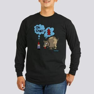 Gnome Visited by the Dog Long Sleeve Dark T-Shirt