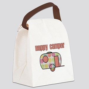 Happy Camper (Pinks) Canvas Lunch Bag