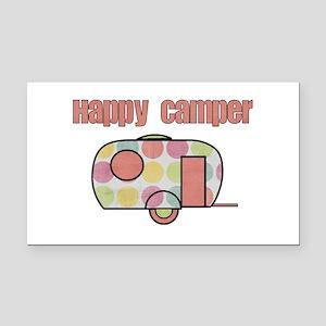 Happy Camper (Pinks) Rectangle Car Magnet