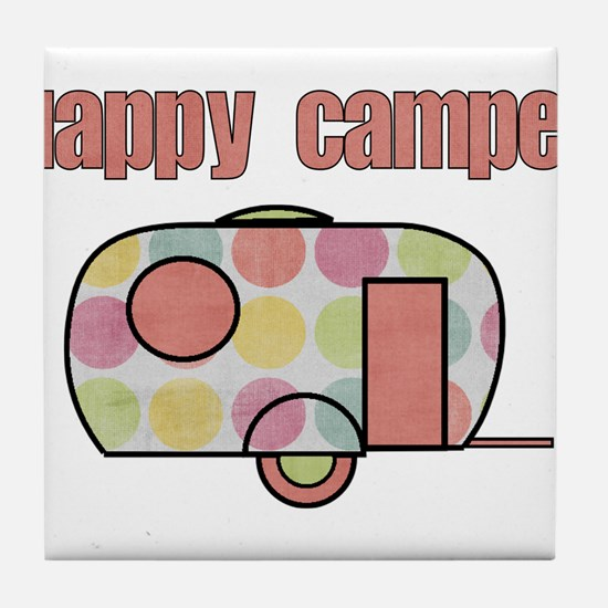 Happy Camper (Pinks) Tile Coaster