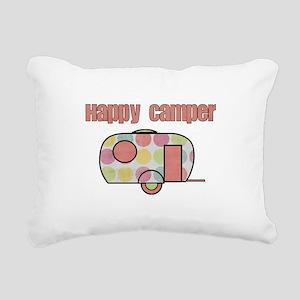 Happy Camper (Pinks) Rectangular Canvas Pillow