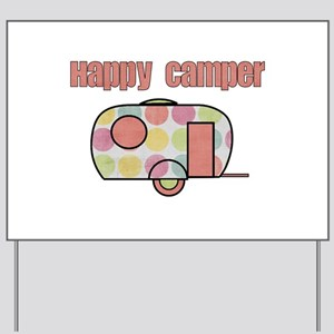 Happy Camper (Pinks) Yard Sign