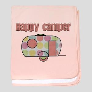 Happy Camper (Pinks) baby blanket