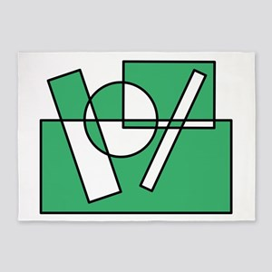 Color Squares Circle Design #1 (green) 5'x7'Area R