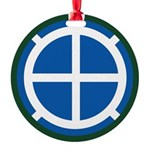 35th Infantry Round Ornament