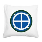 35th Infantry Square Canvas Pillow