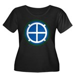 35th Inf Women's Plus Size Scoop Neck Dark T-Shirt