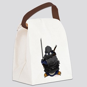 Ninja Penguin Canvas Lunch Bag