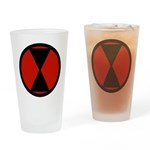 7th Infantry Drinking Glass