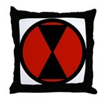 7th Infantry Throw Pillow