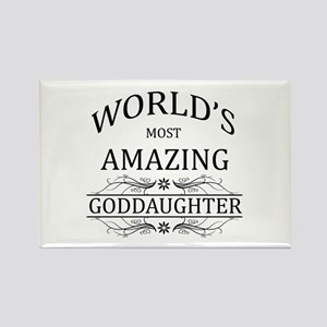 World's Most Amazing Goddaughter Rectangle Magnet