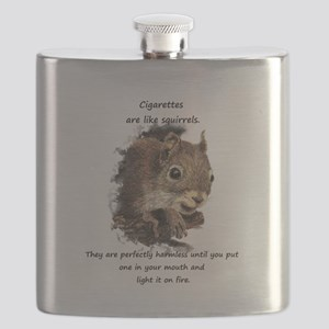Quit Smoking Motivational Fun Squirrel Quote Flask
