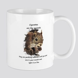 Quit Smoking Motivational Fun Squirrel Quote Mugs
