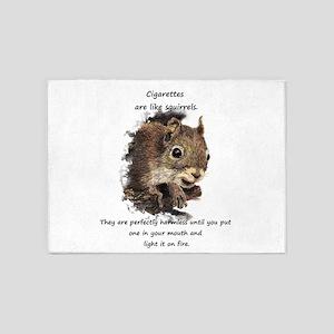 Quit Smoking Motivational Fun Squirrel Quote 5'x7'