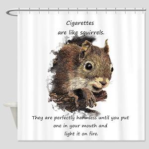 Quit Smoking Motivational Fun Squirrel Quote Showe