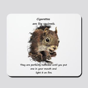 Quit Smoking Motivational Fun Squirrel Quote Mouse