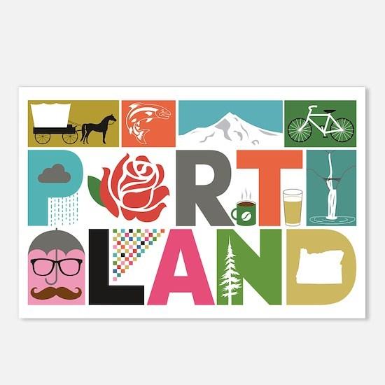 Unique Portland - Block b Postcards (Package of 8)
