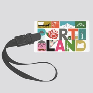 Unique Portland - Block by Block Large Luggage Tag