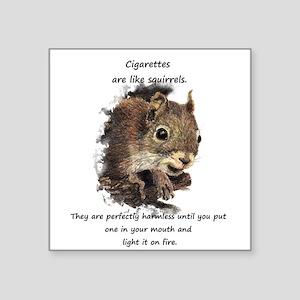 Quit Smoking Motivational Fun Squirrel Quote Stick