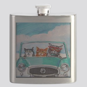 3 Cats In A Nash Metro Flask