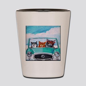 3 Cats In A Nash Metro Shot Glass